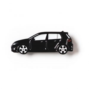 Volkswagen MK6 Golf GTI soft enamel pin in Black
