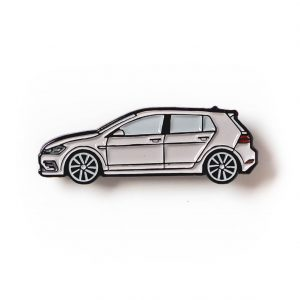 Volkswagen MK7 Golf R soft enamel pin in Gray
