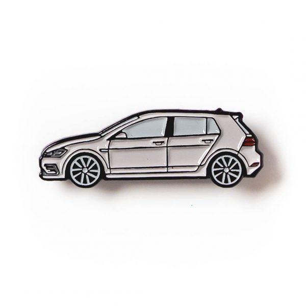 Volkswagen MK7 Golf R soft enamel pin in Gray