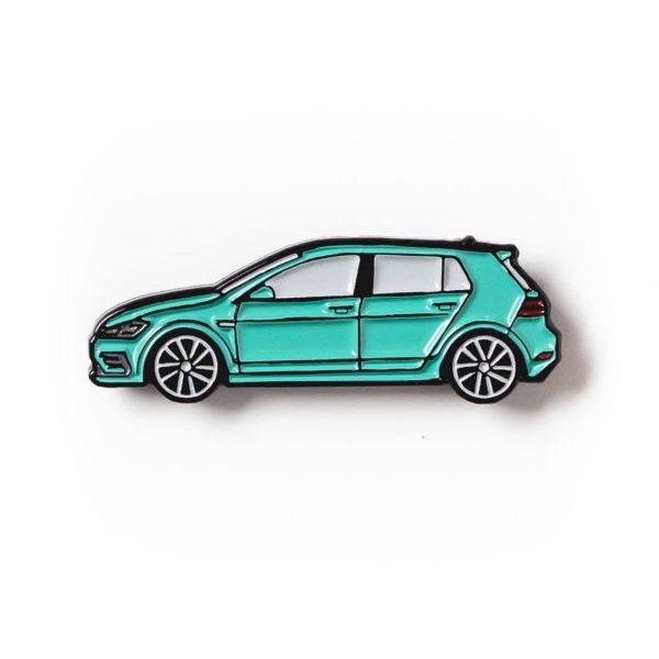 Volkswagen MK7 Golf R soft enamel pin in Turquoise