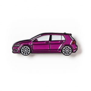 Volkswagen MK7 Golf R soft enamel pin in Purple