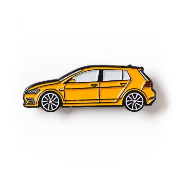 Volkswagen MK7 Golf R soft enamel pin in Ginster Yellow